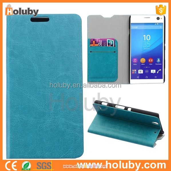new products 2016 Wholesale cell phone case cover mobile phone leather case for Sony xperia C4