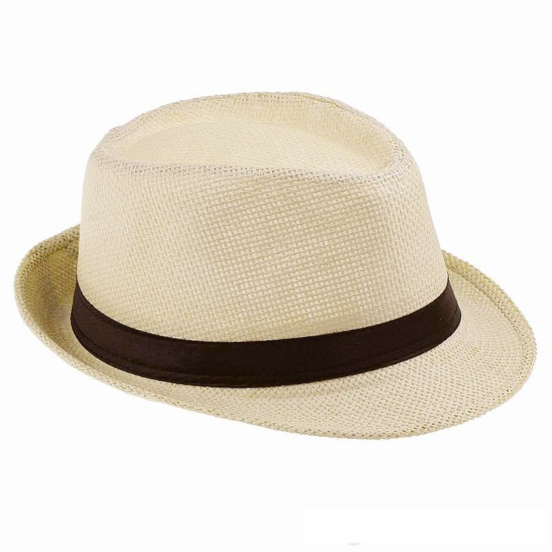 Free Shipping 2015 New Plain beige White Color Panama Hats ...