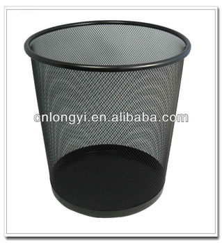 Factory Wholesale Office Items Recyclable Metal Mesh Colorful Round Waste  Bin/Trash Can/Waste