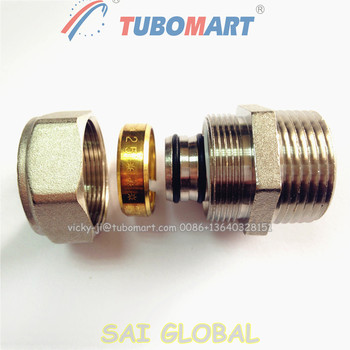 brass compression fitting for pe pipe SAI global, View gas pipe compression  fittings, tubomart or OEM, TUBOMART or OEM Product Details from Tubomart