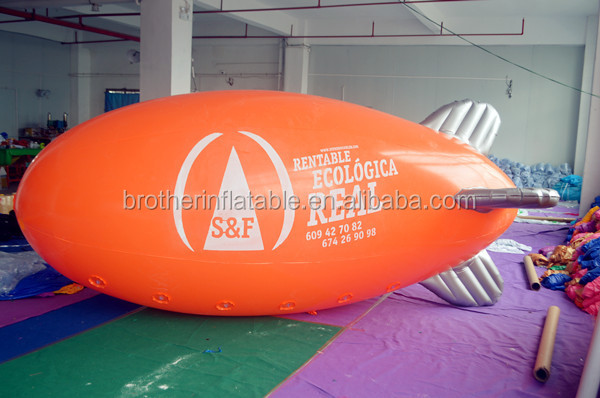 4M Giant Inflatable Advertising Blimp /Flying Helium Balloon/Zeppelin with your logo