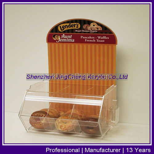 Transparent Plexiglass Biscuit Display Box, Plexiglass Cookie Display Box