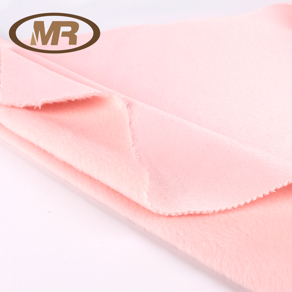 top grade 10% Rayon, 90% Polyester alpaca brushed mohair fleece woolen fabric make to order