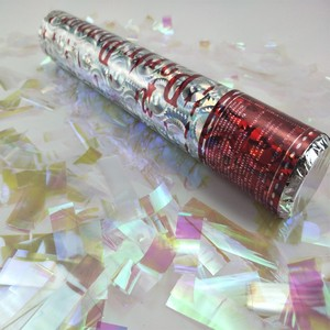 Halloween Silver Foil Snowflake Confetti Cannon Party Popper For Christmas Decoration