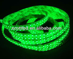 led strip 3528 waterproof 240led/m double rows green light strip