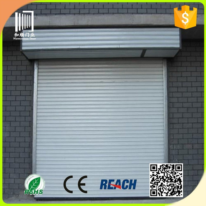 double track product Aluminum Alloy remote control automatic sectional garage door with low price