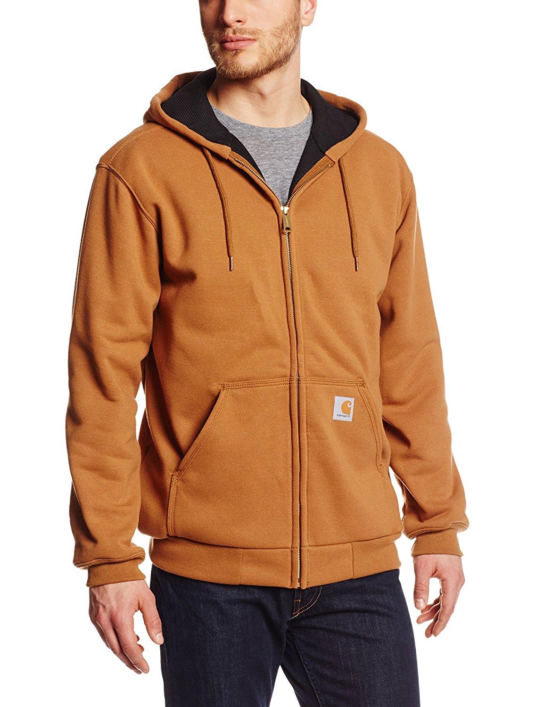 Carhartt Mens Big and Tall B/&t Rd Rutland Thermal Lined Hooded Zip Front Sweatshirt