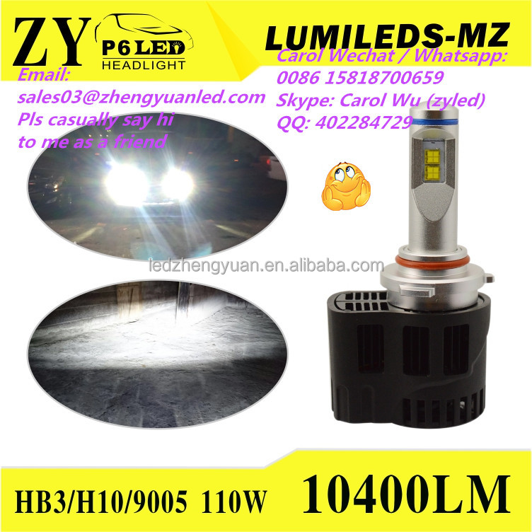Now or Never Highest Bright 10400 lumen canbus car led headlight headlight h7 led car hb3 d3s led phi lips luxeon mz vs C1 G5
