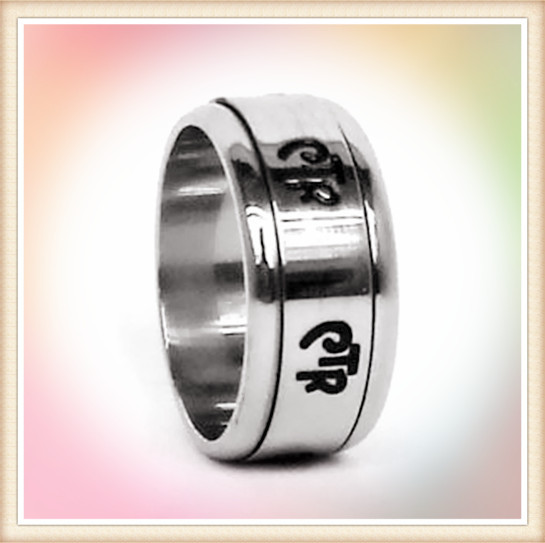 Alibaba China stainless steel jewelry wholesale high polish spinner stainless steel ctr rings lds