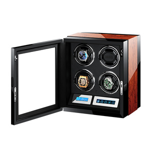 M&Q Wholesale uhrenbeweger japan motor wooden china safe controller led automatic watch winder 4