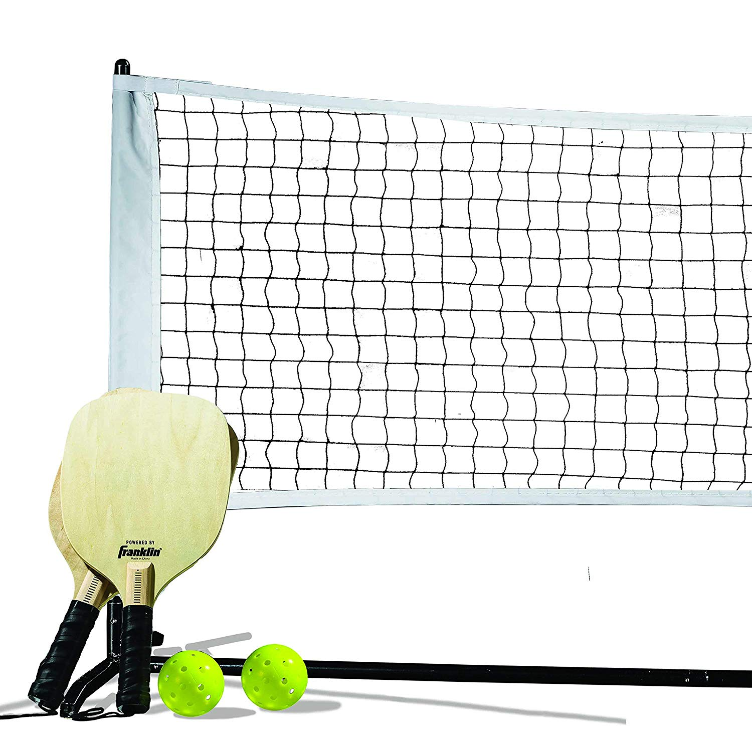 Franklin Sports Pickleball Starter Set - Official Starter Set of The US Open - Includes Net, Paddles (2), x-40 Pickleball, One Size