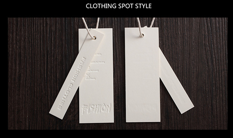 Clothing customized card children's wear and women's wear certificate label paper LOGO custom clothing tag design