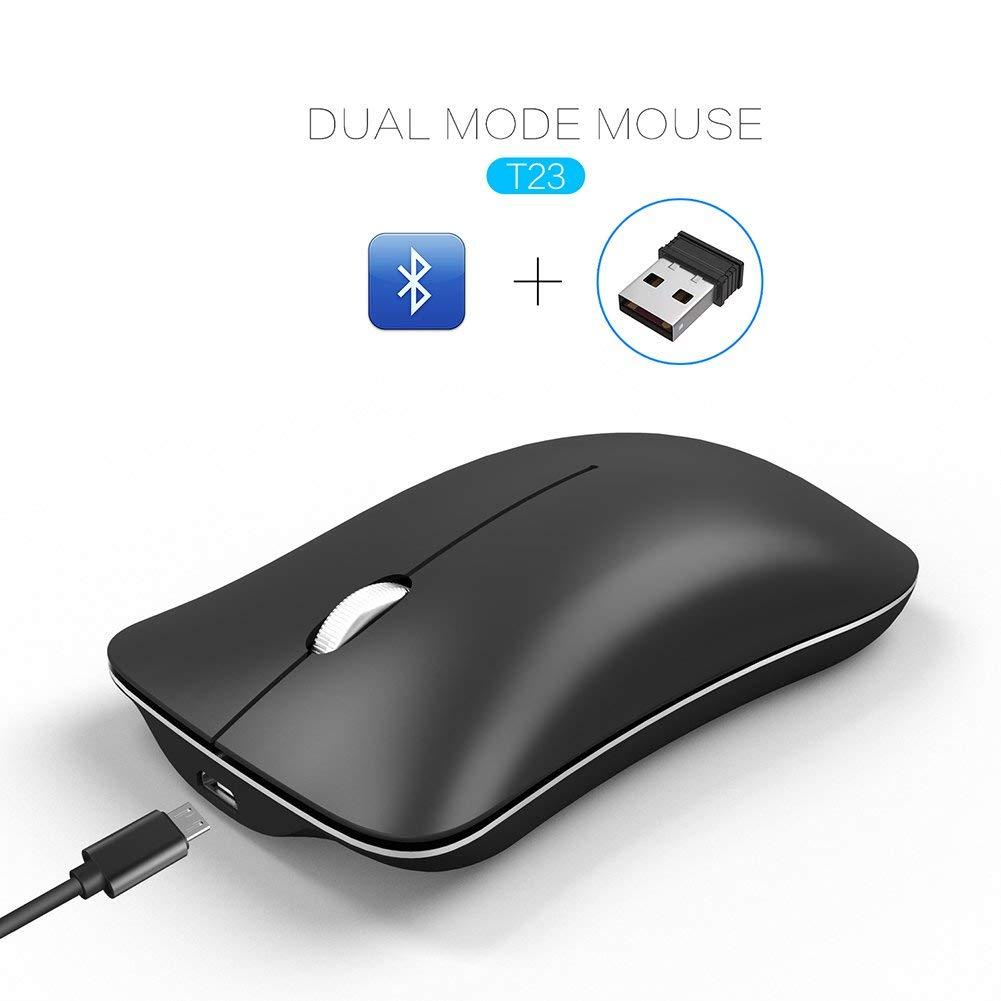 0e21350a7be Get Quotations · elegantstunning Wireless Silent Mice Fashion Mini Simple Cordless  Mouse Bluetooth USB Dual Mode 2.4G 1600dpi