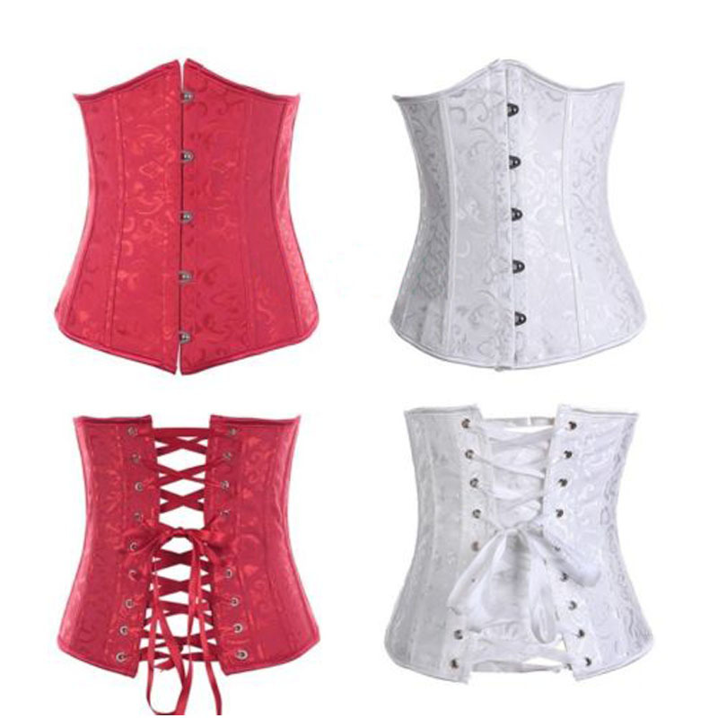 Plus-size-Lace-up-Boned-Underbust-Embroidered-Corset-Waist ...