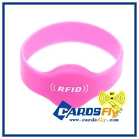 Custom Logo RFID Fitness Sports Silicone Bracelet for Access Control
