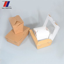 custom logo printing food takeout kraft boxes wholesale boxes