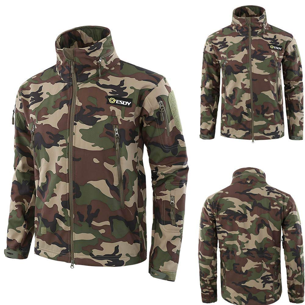 Mens Bomber Jacket,Fashion Camouflage Tactical Outwear Stand Neck Military Jackets Sweatshirts Zulmaliu