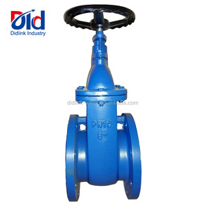 "Cast Iron 6"" PN10 Hard Seal Non Rising Stem Double Flanges Through Water Oil Or Gas Gate Valve"