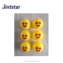 New designs Emoji custom ping pong table tennis balls 40 plastic