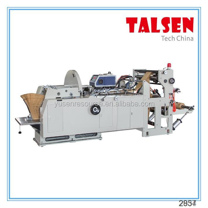 JDM AND FDM Serise wenzhou talsen machine maker paper forming paper bag folding gluing machine for Chicken leg bag makin