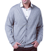 Classic Knitted Fashion Men Pure Cashmere Cardigan Sweater