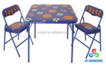 Metal Kids Study Folding Table And Chairs Sets