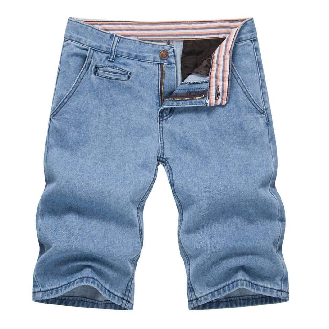 e3a0eccf4f Get Quotations · Pervobs Men Shorts, Mens Summer Casual Cargo Pants Shorts  Zipper Fly Jeans Denim Shorts Pants
