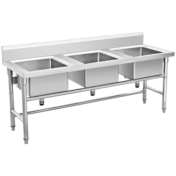 Catering equipment stainless steel triple kitchen sink washing catering equipment stainless steel triple kitchen sink washing table sink bench bn s06 workwithnaturefo