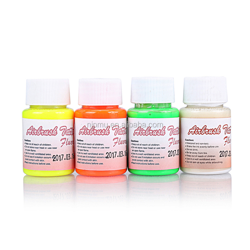 Airbrush tattoo fluorescent uv ink for permanent makeup tattoo pigment