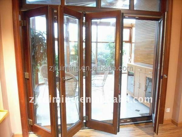 Madera y aluminio puertas plegables puerta plegable de - Puerta plegable madera ...