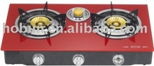 Table type 3 burner gas stoves,color tempered glass panel,stainless steel body,with/without safety device option