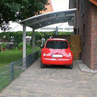 Easy installation PC sheet roof carport with steel frame