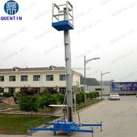 Single mast aluminum lift platform indoor aerial work lifting one person lift