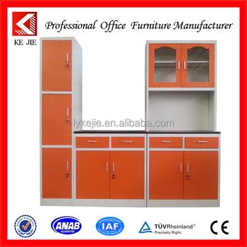 New Design Modern Kitchen Cupboard With Stainless Steel Storage