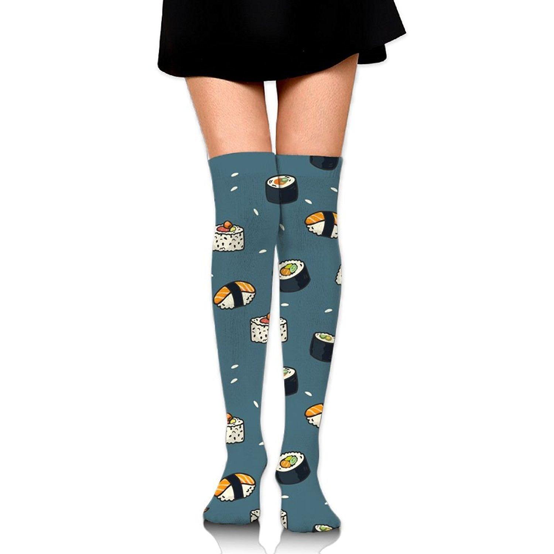 Zaqxsw Sushi Food Women Vintage Thigh High Socks Over The Knee Socks For Girls