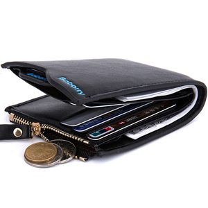 National Design And Multifunction Zipper Coin Pocter Men Wallet