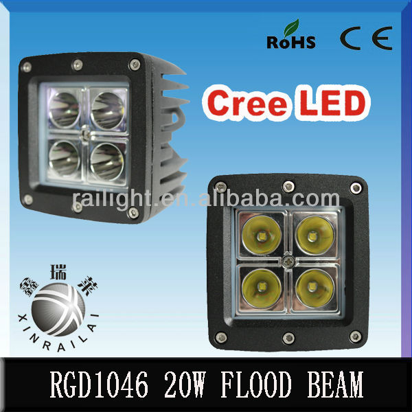 20W ,1350-1440lm .RGD1046 ,led light bar cover, led light bar for off roadvehicles,ATVS,SUV,train,bus,truck,motorcycle