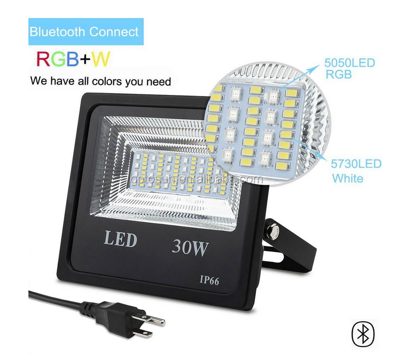Music Sync Outdoor Lighting With Mesh Bluetooth App 2 4g Rf Control  Dimmable Rgbw 30w Mesh Led Flood Light Party Light - Buy High Quality 30w  Led