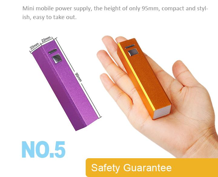 2600mAh Slim Mobile Universal External Portable Power Banks