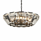 Big size clear crystal black round brass chandelier lighting