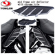 Car accessories black abs motorcycle wind deflector with chrome trim for harley davidson