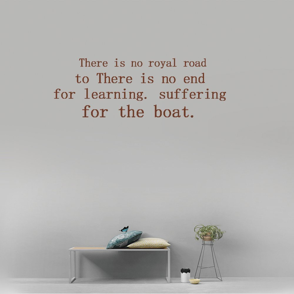 there is no royal road to learning