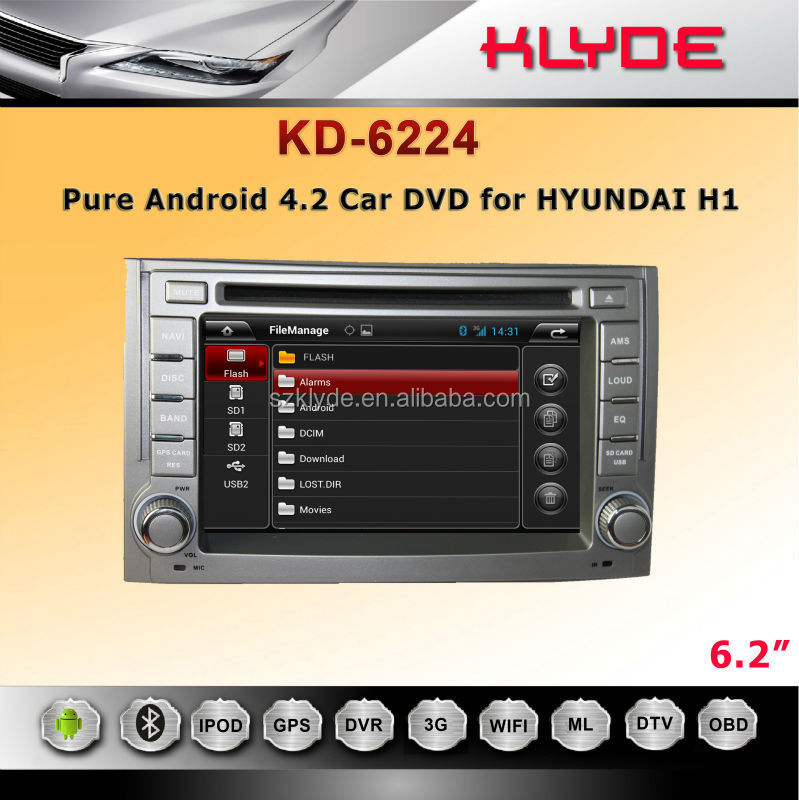 Cheap android dvd car audio navigation system for H1