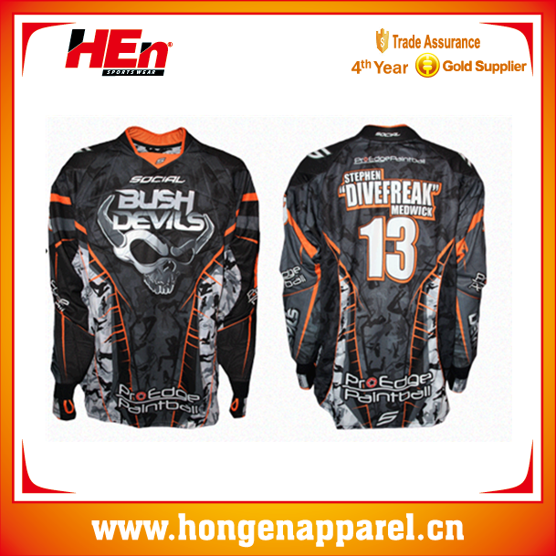 Men`s Professional Overload Padded Paintball Jersey