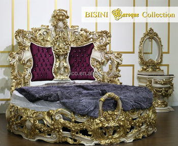 Bisini Baroque Collection Luxury King Round Bed - Buy ...