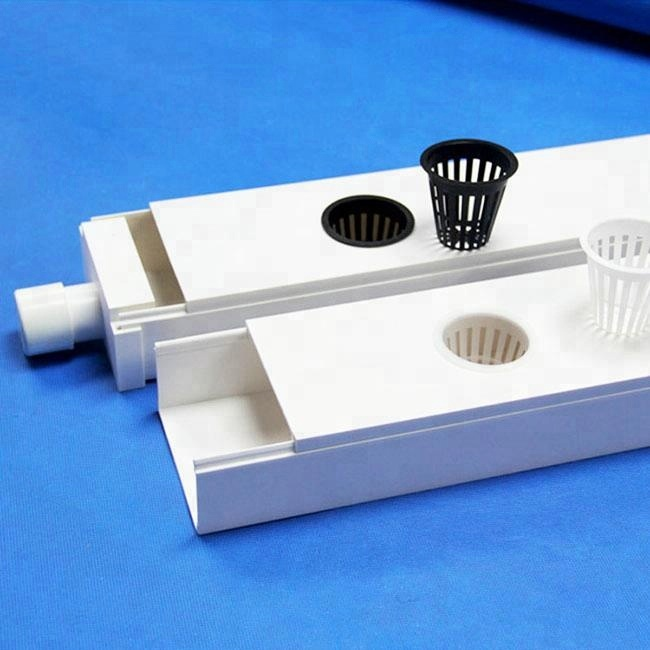 PVC channel white plastic hydroponics square <strong>tube</strong>