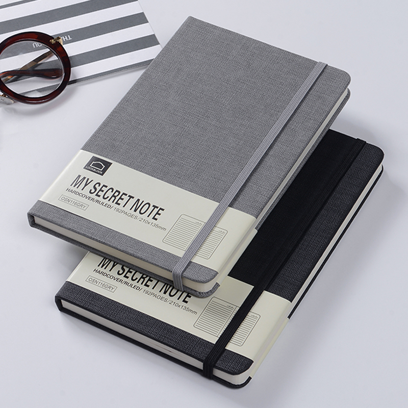 custom printing cheap binder leather stationery a5 hardcover notebook