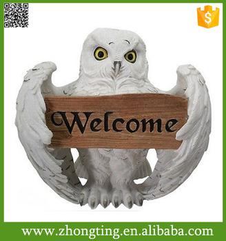Beautiful Creative Garden Ornaments Holding Welcome Garden Decor Owl
