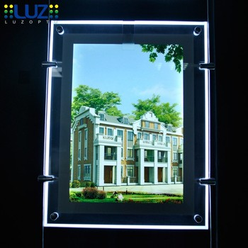 Hot sale real estate agent window led display advertising light box