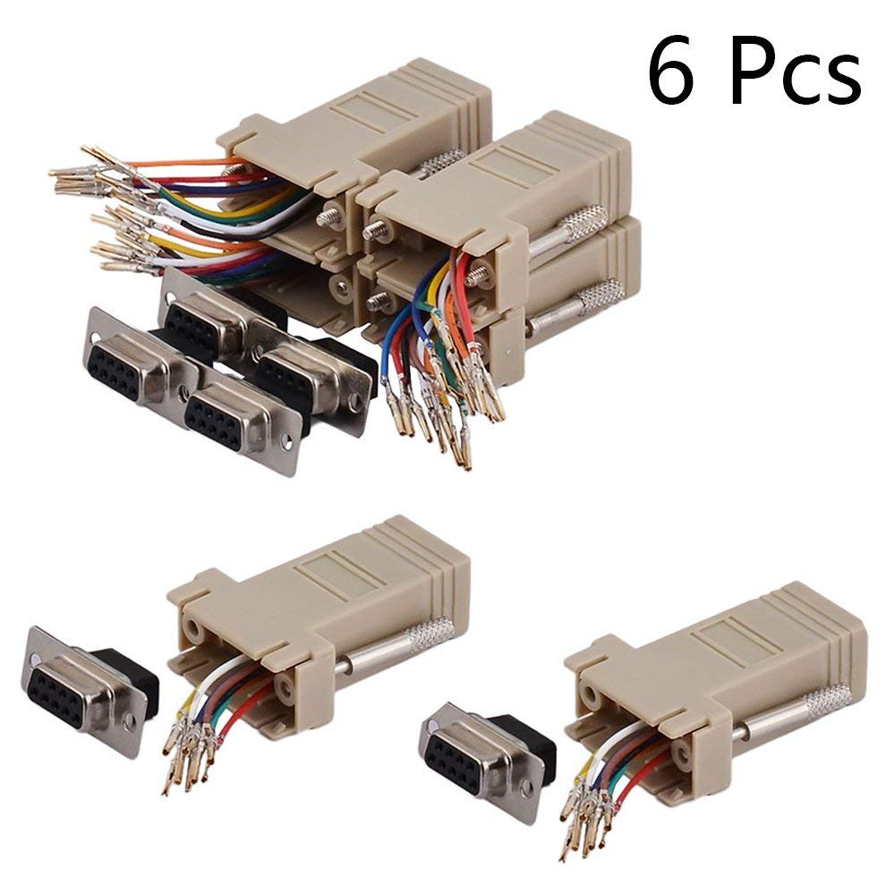 Cheap Rj45 Db9 Pinout Find Deals On Line At Alibabacom Ethernet To Wiring Diagram Get Quotations Yohii Female 9 Pins 8 Wire Modular Adapter Connector Extender Convertor
